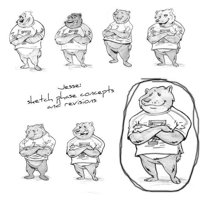 mascot sketches